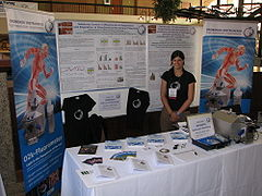 Verena Laner at Oroboros booth, UMDF2014 Pittsburgh