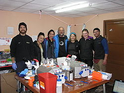 The high-altitude muscle team at Chacaltaya (Aug 2012).